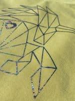 Eliza T Ladies Tee - Lemon Sherbert Imperfectly Perfect Geometric Unicorn